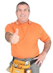 Dave gives the thumbs up after a successful sprinkler repair in Davie, FL
